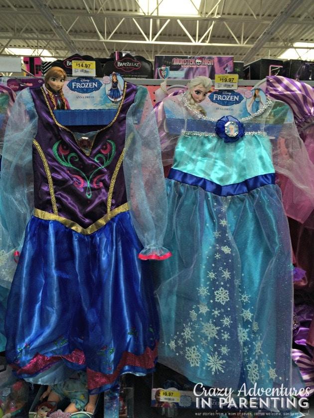 FROZEN costumes Walmart