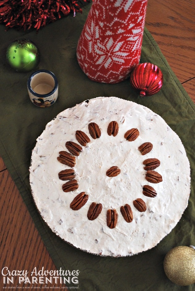 Southern Ambrosia Coconut Apple Pie with Pecan Cream Cheese Topping