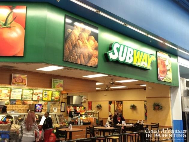 Subway Walmart San Antonio