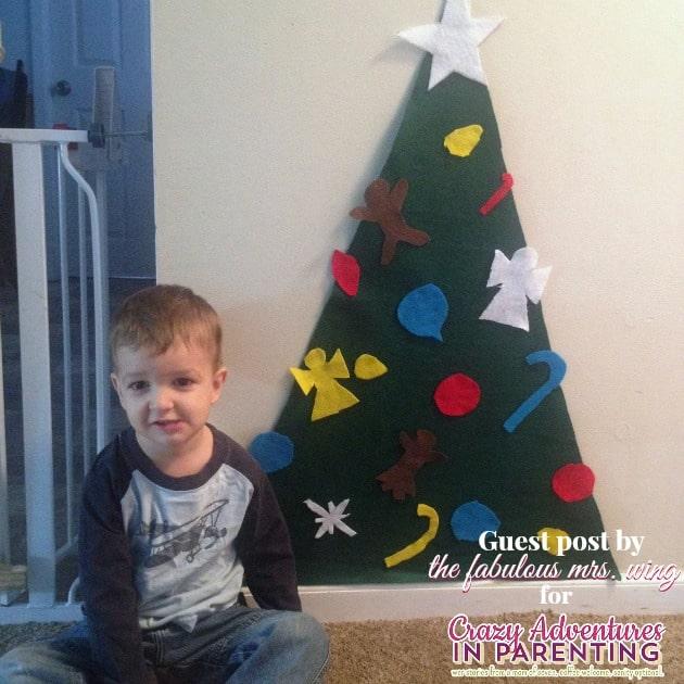 Toddler play felt tree craft