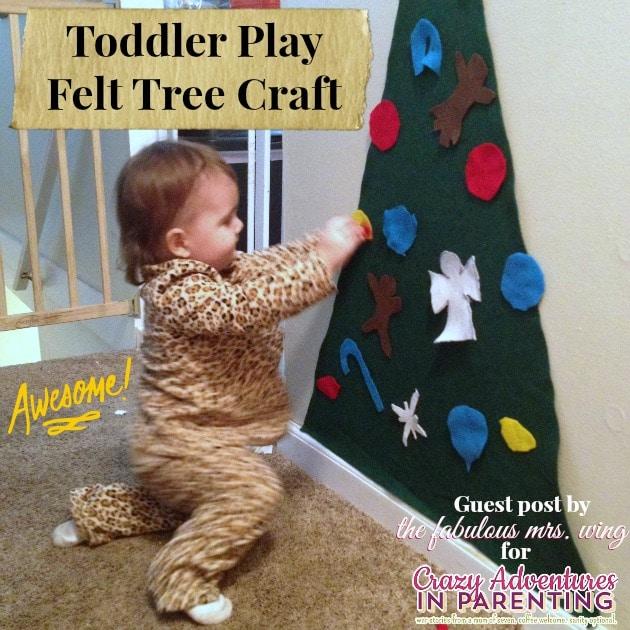 Toddler play felt tree