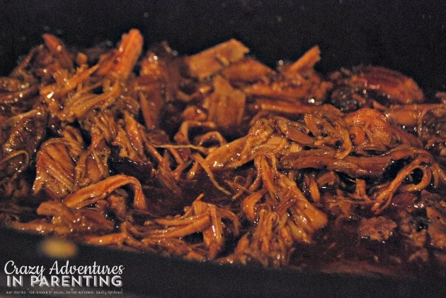 barbecue pulled pork ready to serve