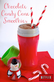 chocolate candy cane smoothies