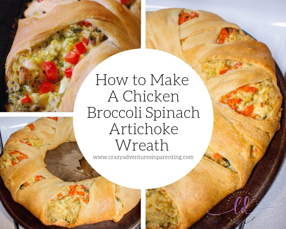 How to Make A Chicken Broccoli Spinach Artichoke Wreath