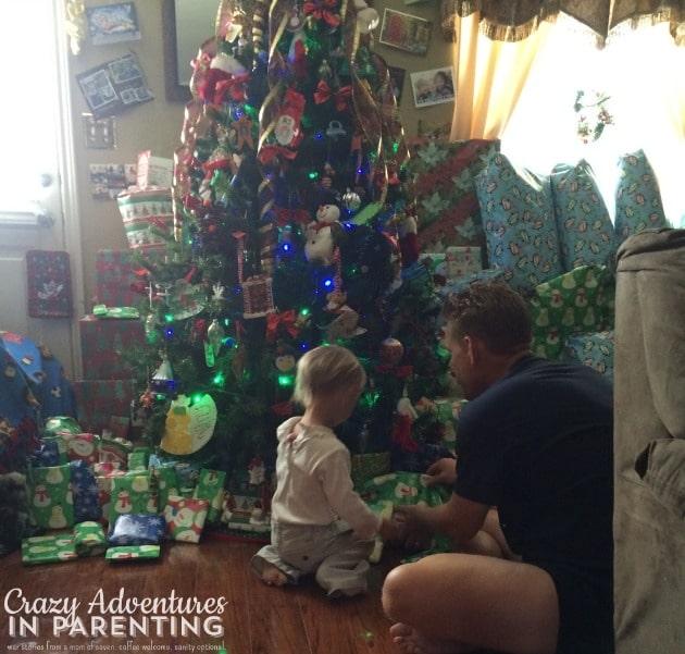 baby helper under the tree