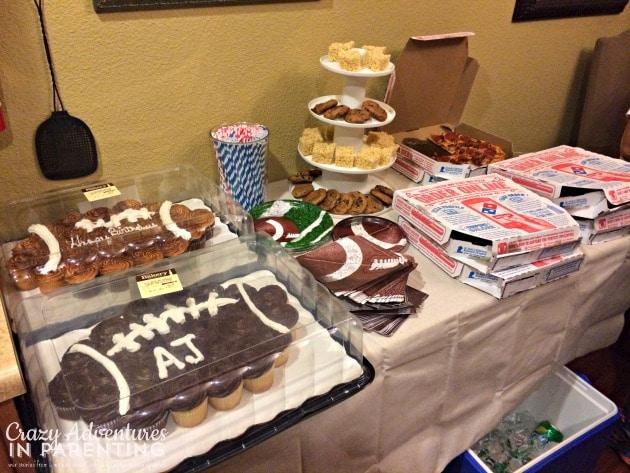 birthday party spread
