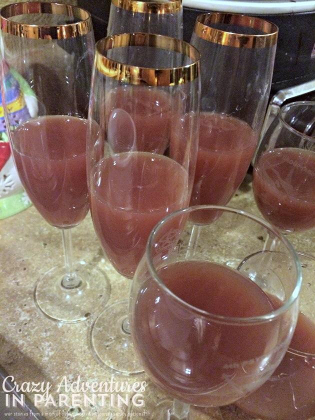 pomegranate orange cranberry drink