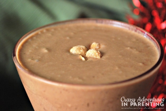 Mocha Peanut Butter Espresso Flax Smoothie with Almond Milk