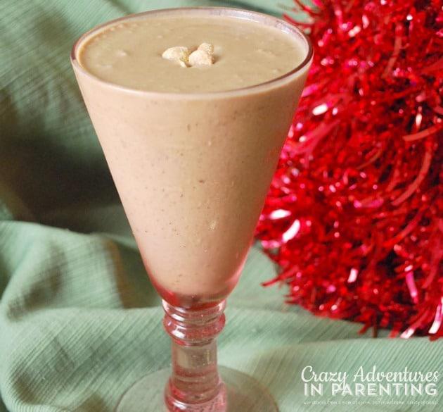 Mocha Peanut Butter Espresso Shake with Almond Milk and Flax