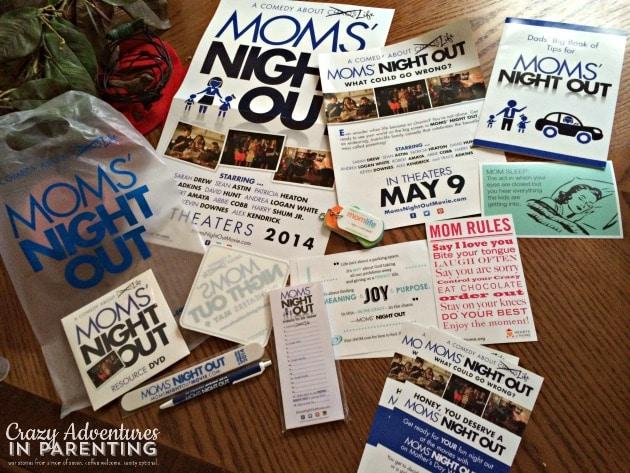 Moms' Night Out movie bag o' goodies