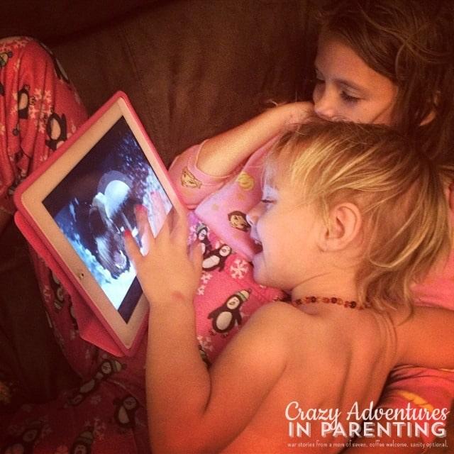 sick babies watching Netflix