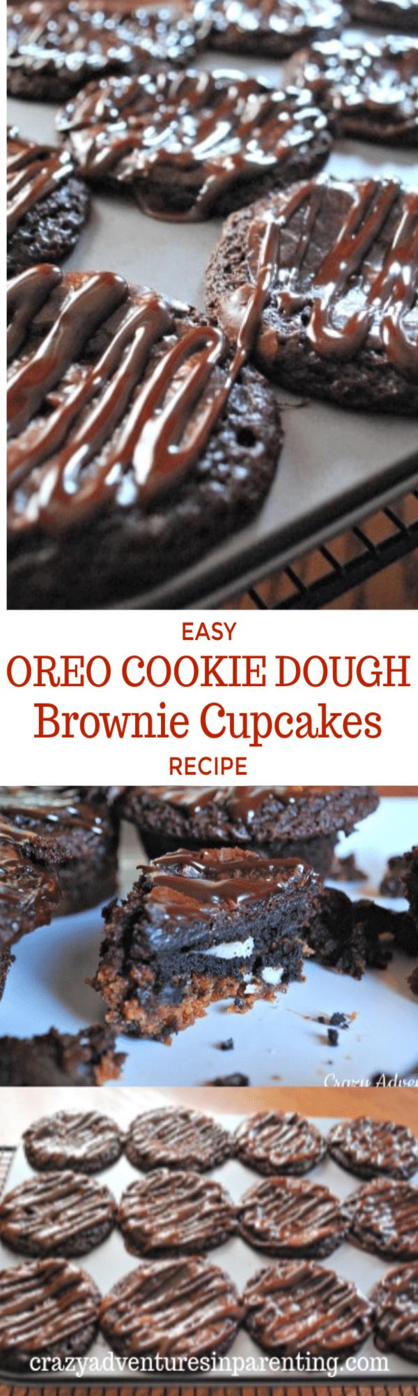 Easy Oreo Cookie Dough Brownie Cupcakes Recipe