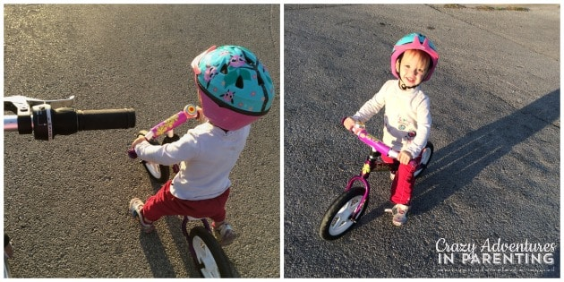 bike riding with baby V