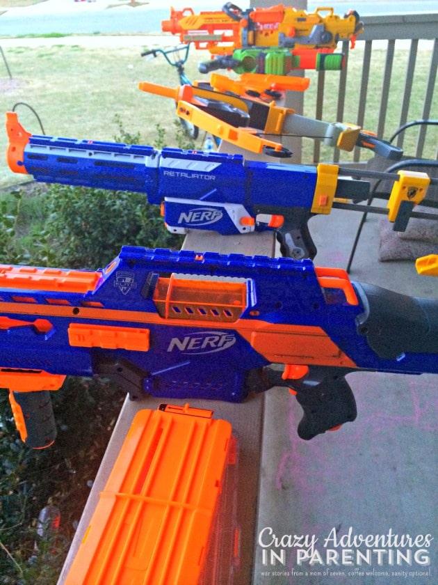boys and nerf guns