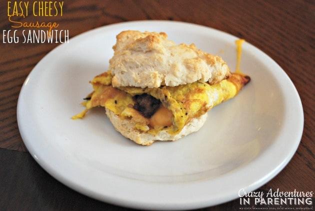 easy cheesy sausage egg sandwich