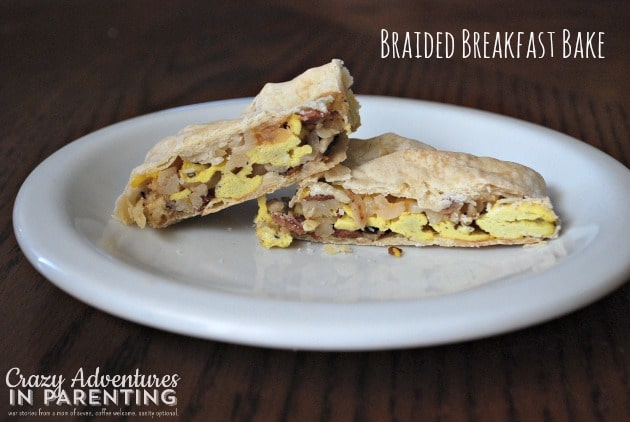 Braided Breakfast Bake sliced and ready
