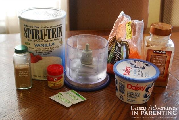 Carrot Cake Protein Shake ingredients