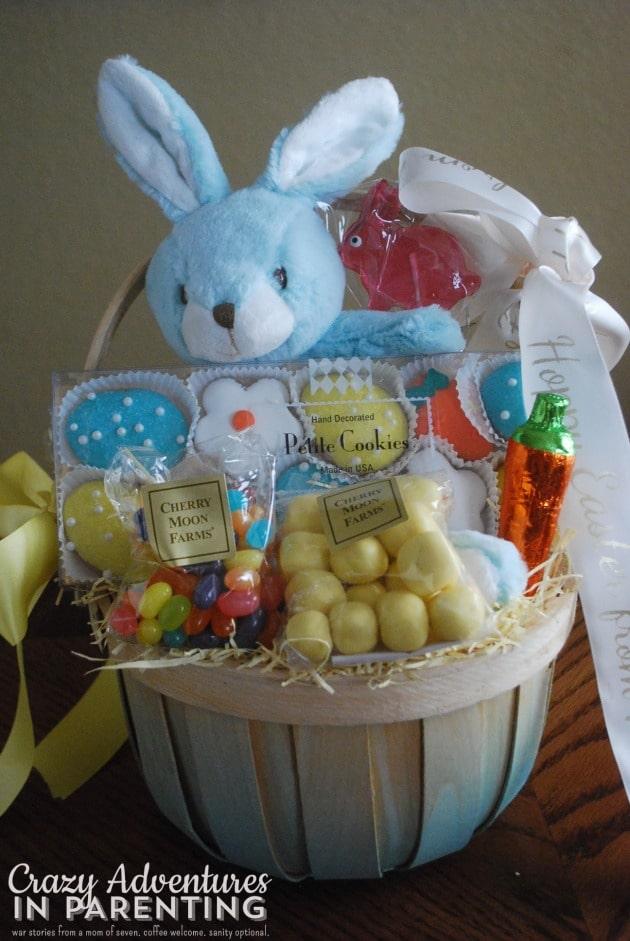 Children's Easter Basket closeup