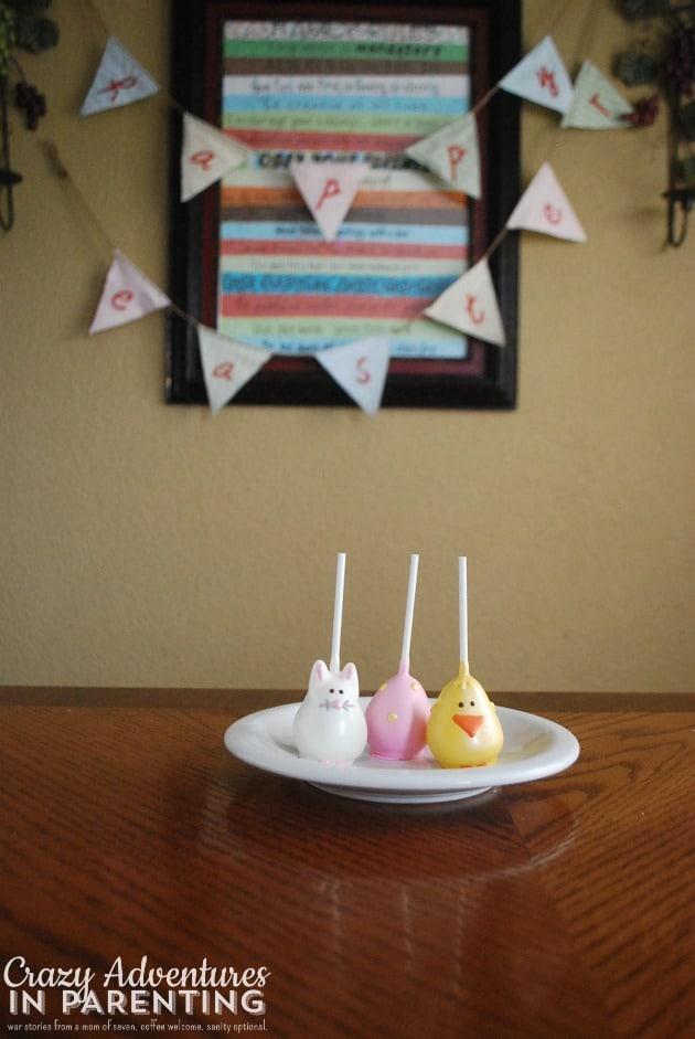Easter Cake Pops - Happy Easter