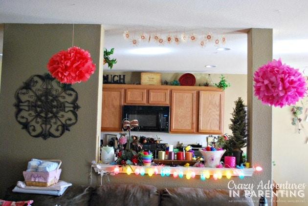 Easter decor living room