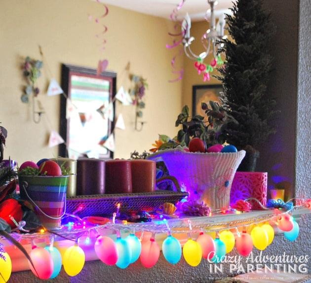 Easter decorations - string lights