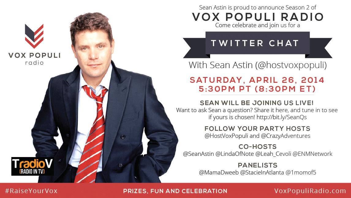 Sean Astin Vox Populi Twitter Chat 4/26