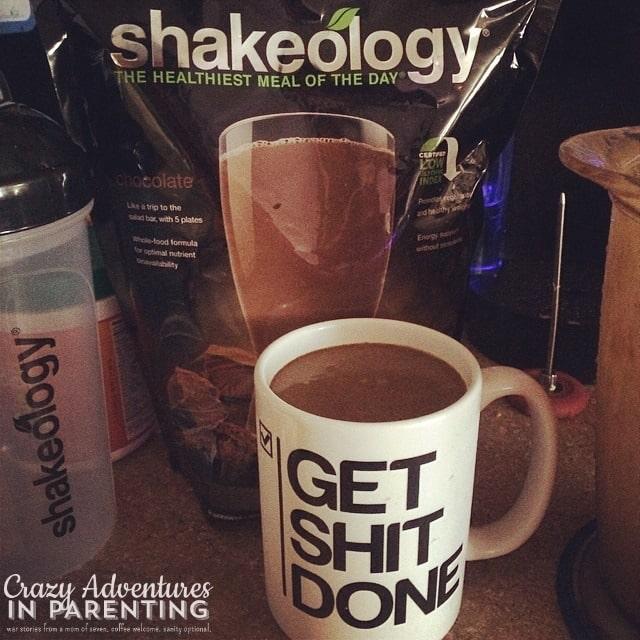 Shakeology shake - get shit done