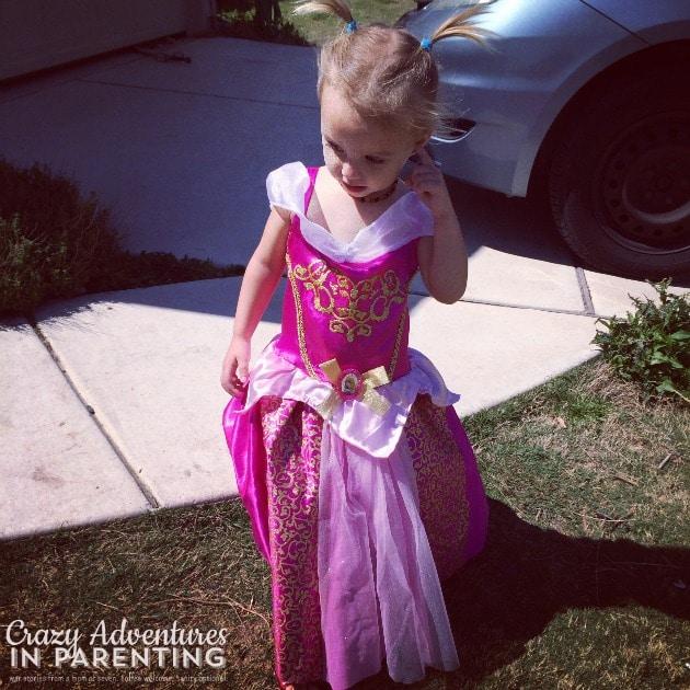 first princess dress and heels