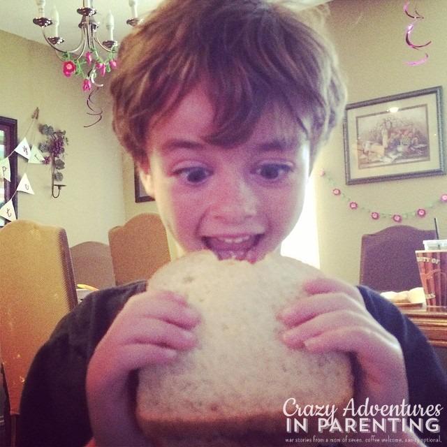 happy boy - nutella marshmallow sandwich