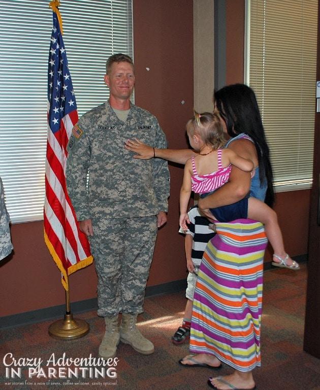 pinning master sergeant rank