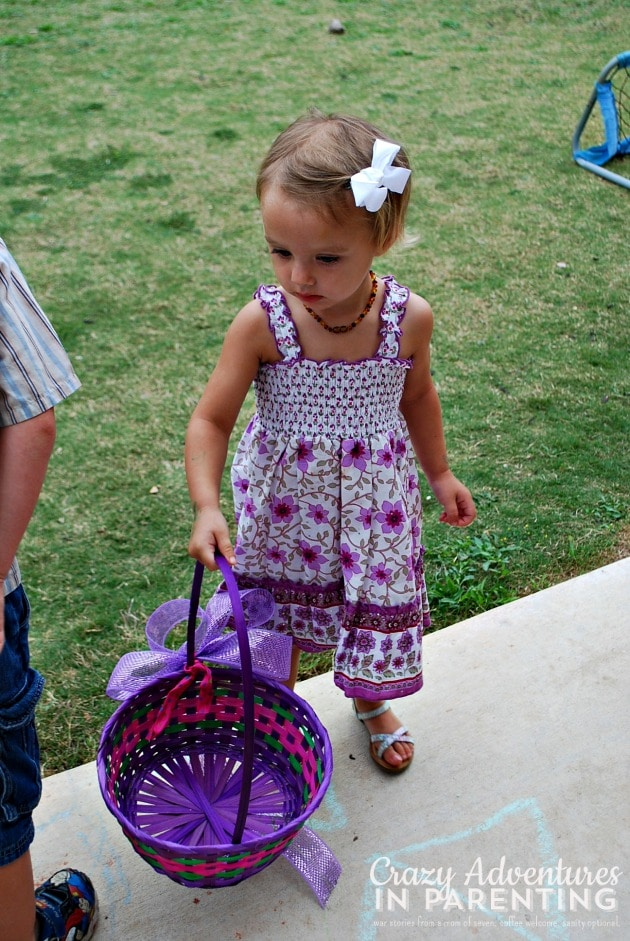ready for easter egg hunt