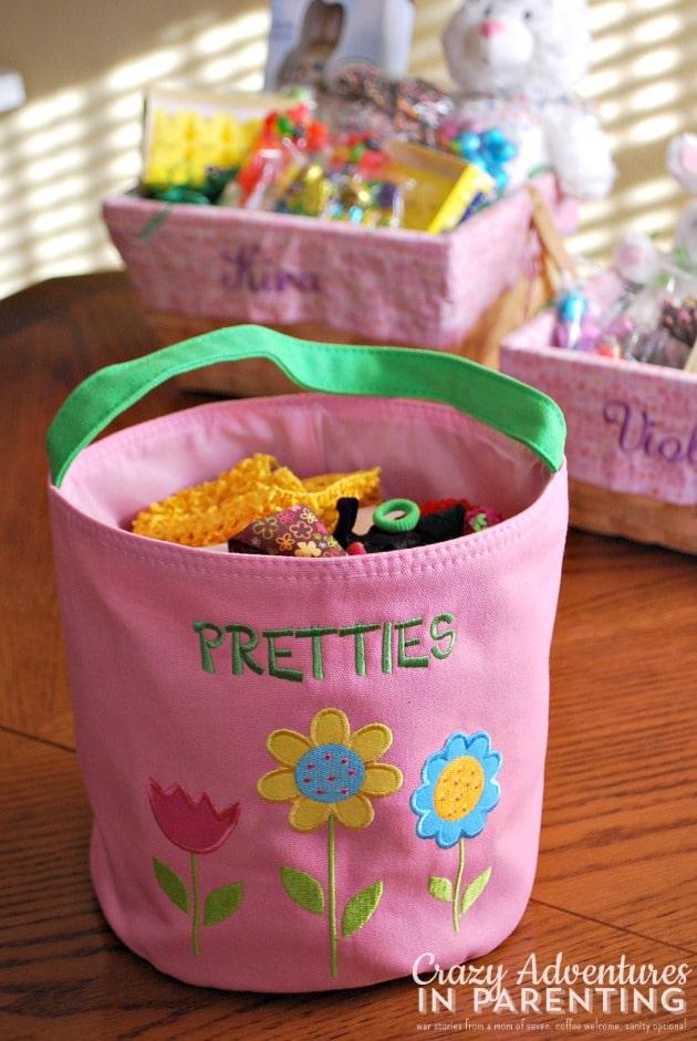 repurposing personalized easter baskets