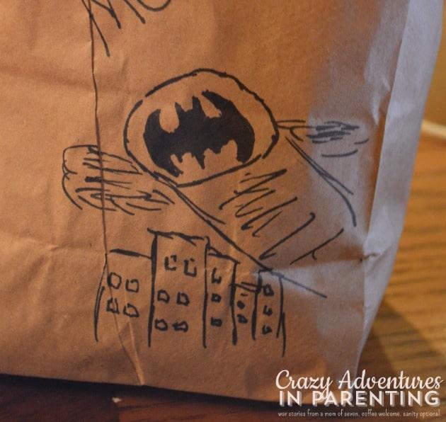 Batman lunch sack