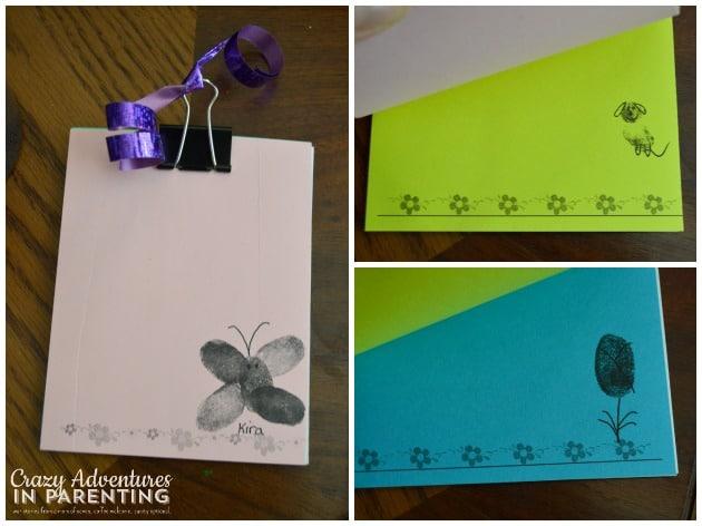 Mother's Day Fingerprint Notebook
