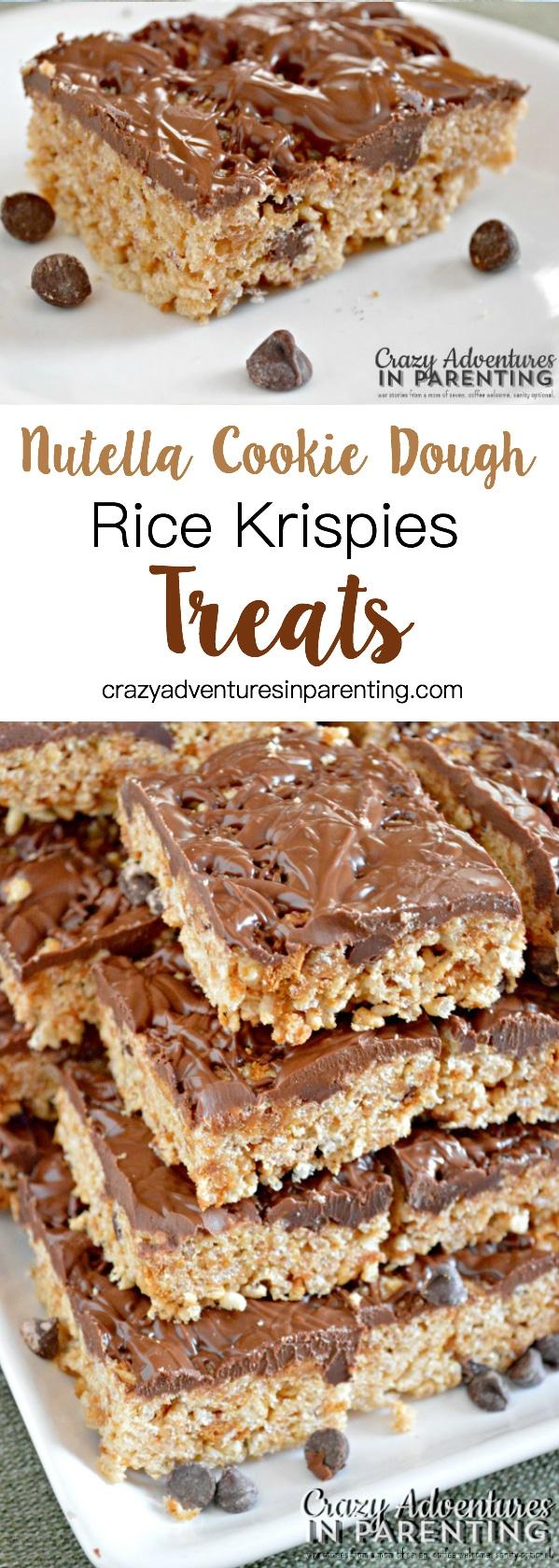 Nutella Cookie Dough Rice Krispies Treats