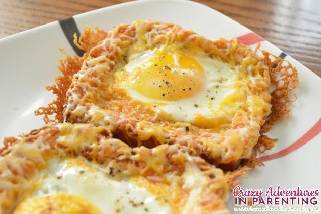 Cheesy Baked Egg Toast close up
