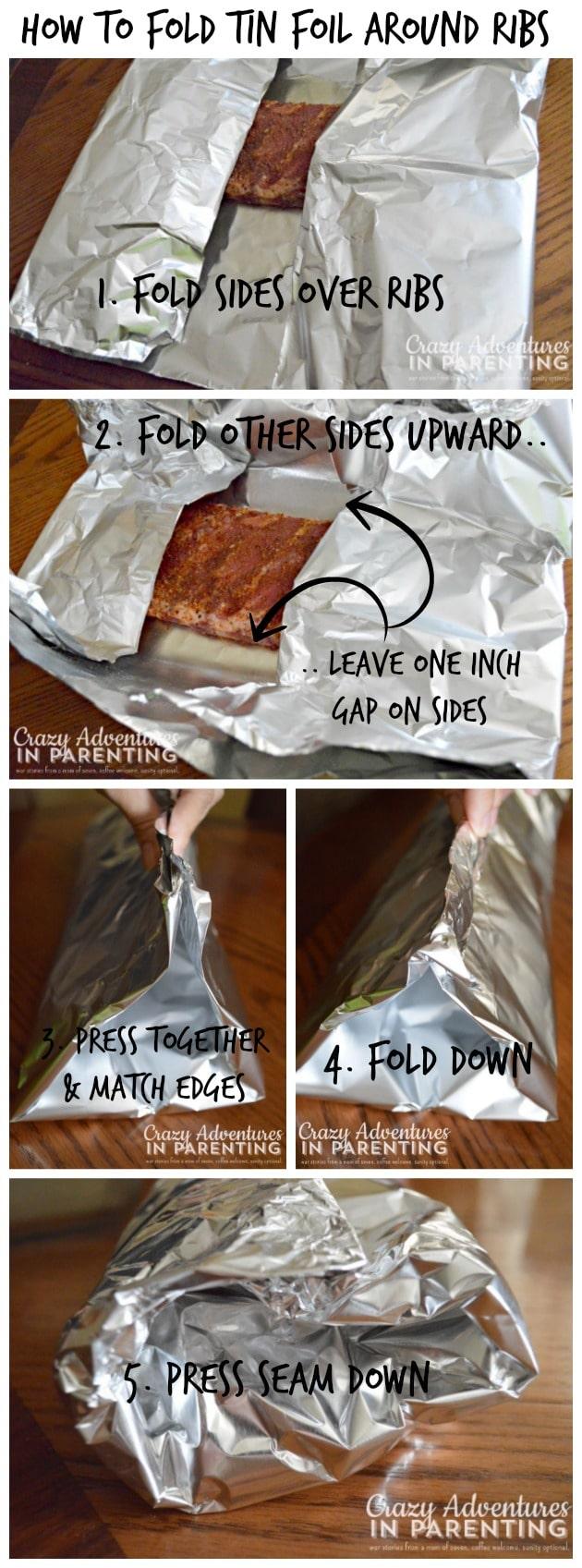 How to Fold Tin Foil Around Ribs