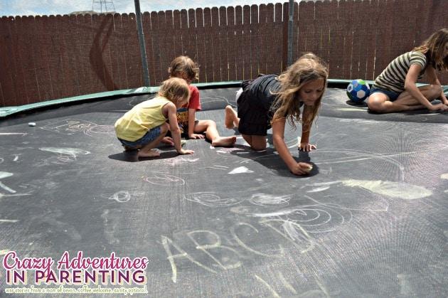 chalkboard trampoline
