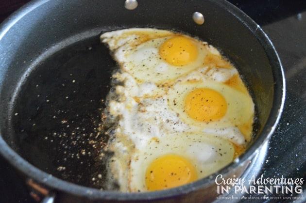 over easy eggs for breakfast