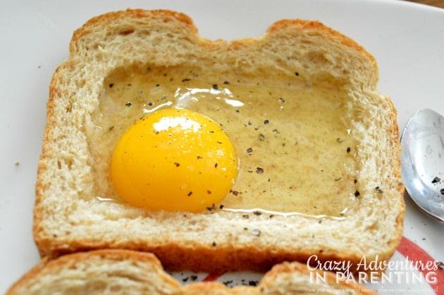 season the egg