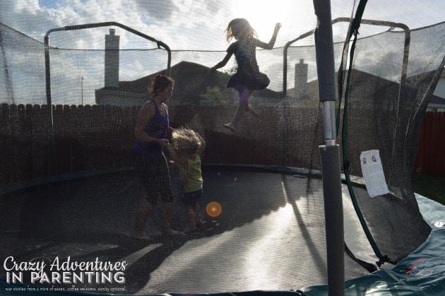 trampoline ballerina