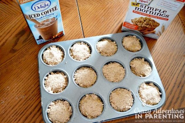 Caramel Macchiato Muffins ready to bake