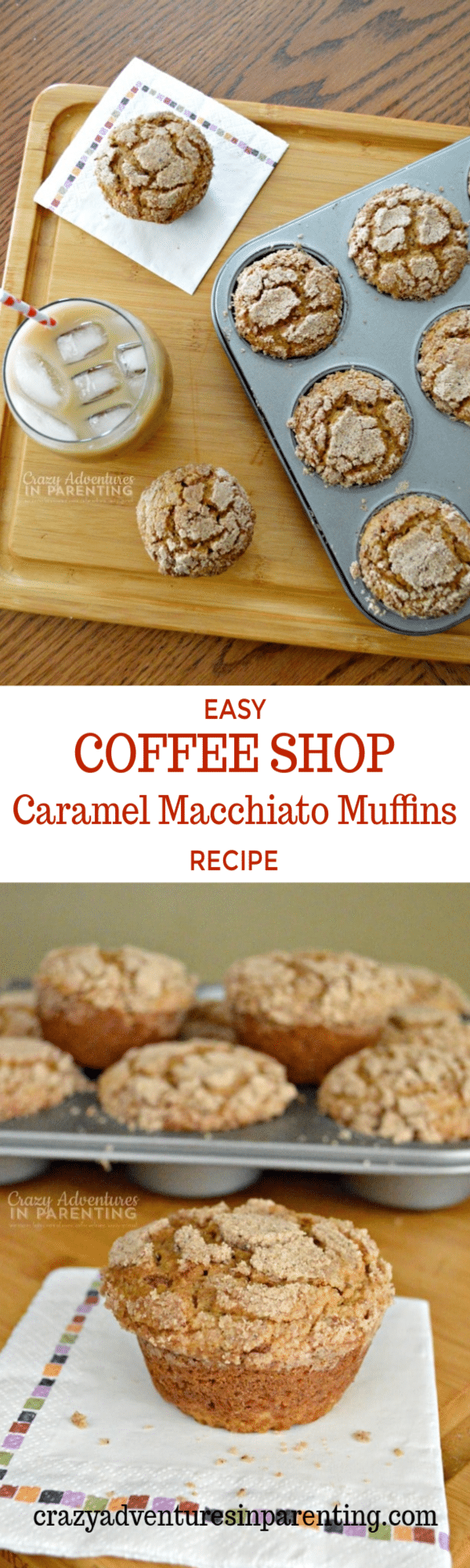 Easy Homemade Coffee Shop Caramel Macchiato Muffins Recipe