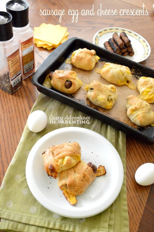 Sausage Egg and Cheese Crescents title