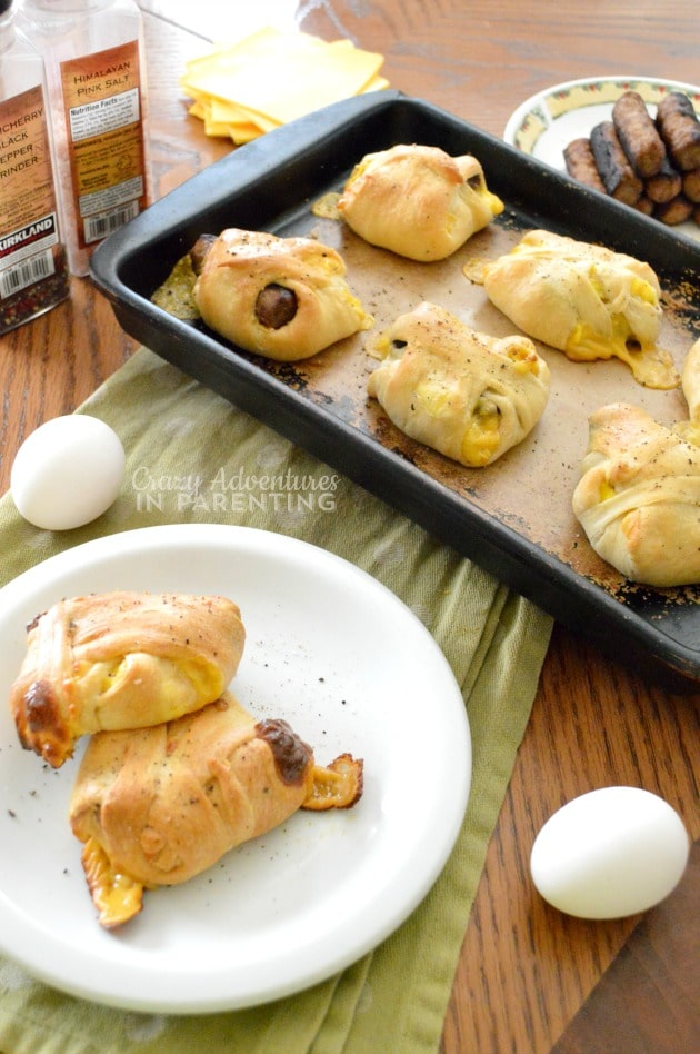 Sausage Egg and Cheese Crescents