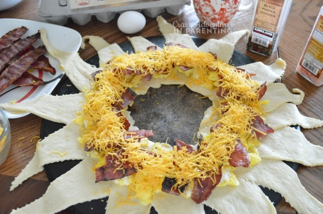 cheese added to Bacon Egg and Cheese Breakfast Ring