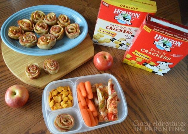 Apple Rose Tarts school snack fun