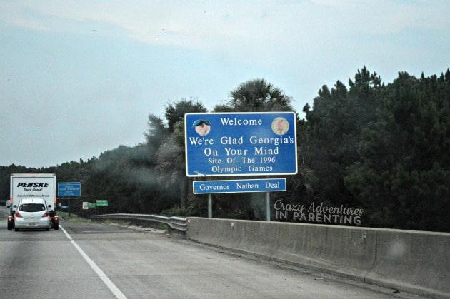 Georgia state sign