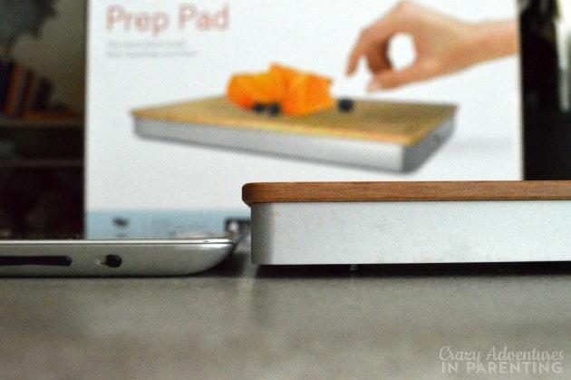 The Prep Pad's width