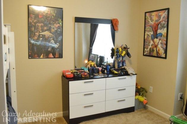 boys bedroom - new dresser